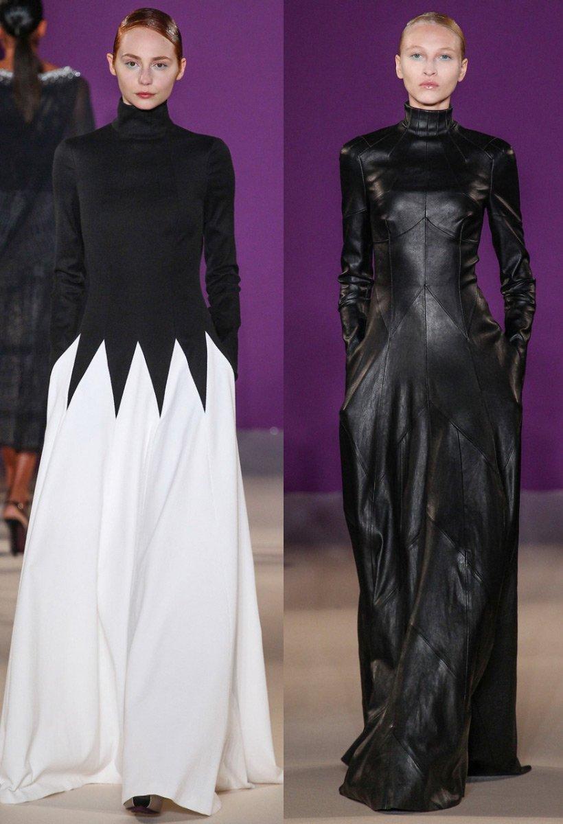 Платья с элементами готики