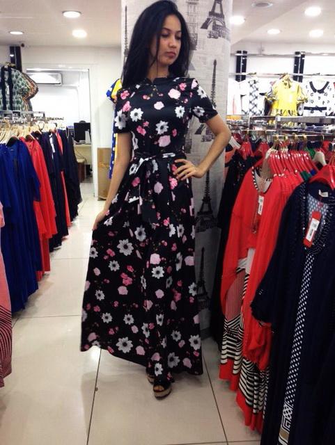 Принтованное платье Veiks