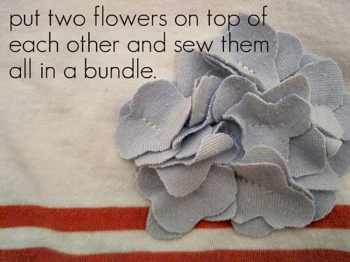 Пришиваем цветок