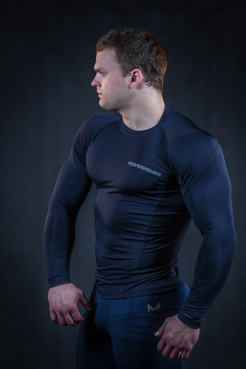 Рашгард мужской темно синий
