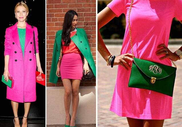 Розовый и зеленый