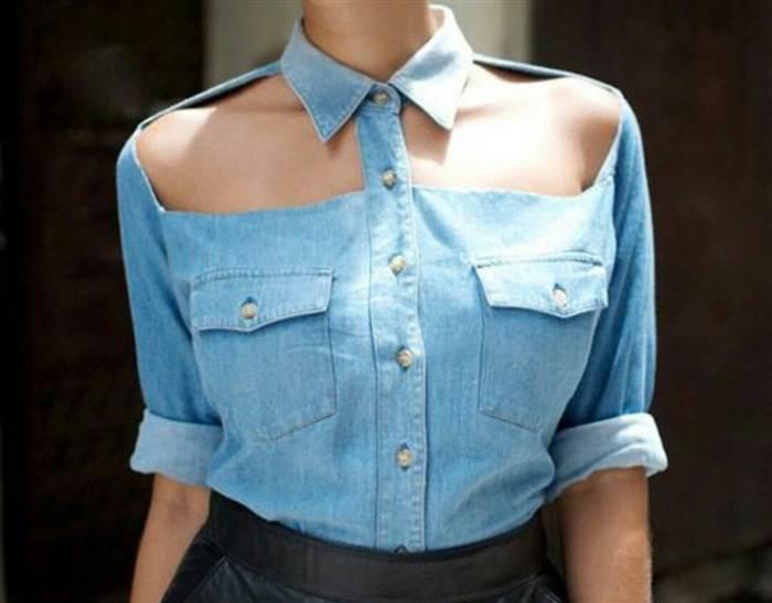 Рубашка с вырезами