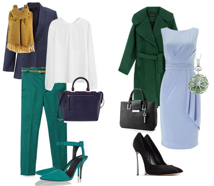 Сочетание синего и зеленого цвета