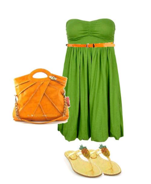 Сочетание зеленого и оранжевого