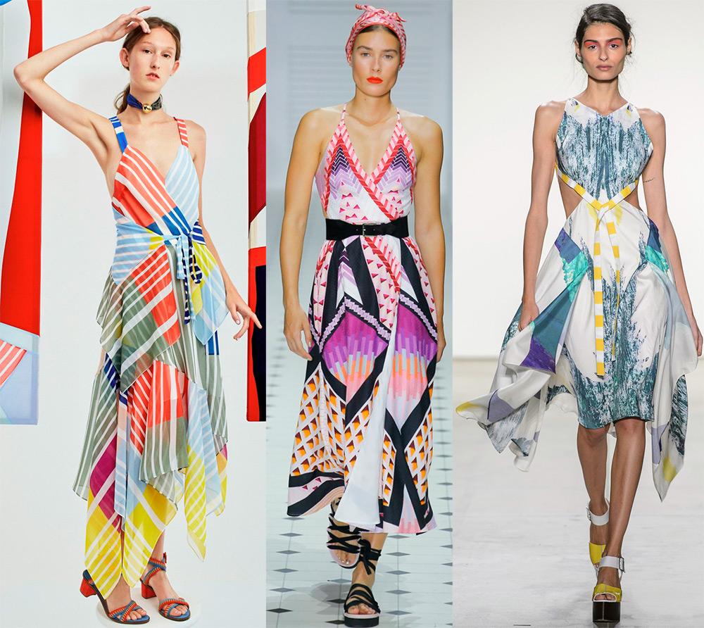 В тренде платья из платков