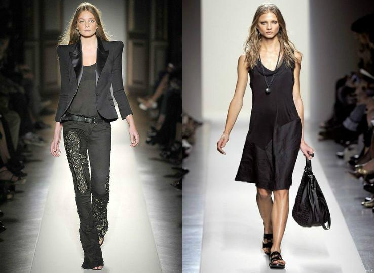 В женском готическом гардеробе всегда найдутся кожаные брюки