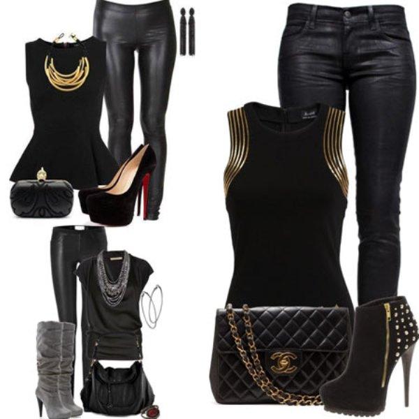 Одежда в черных тонах