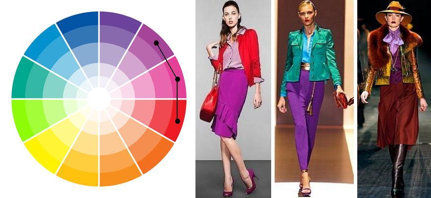 Аналоговые цвета одежды
