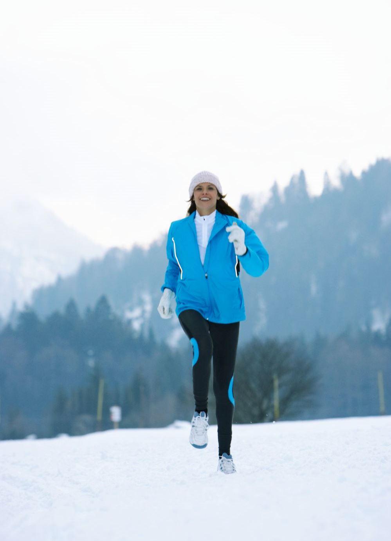 Бег на улице зимой