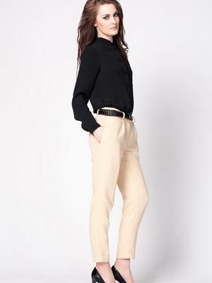 Бежевые современные брюки