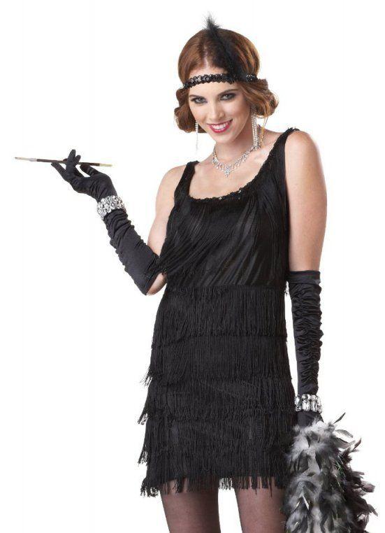 Черное платье в стиле Чикаго