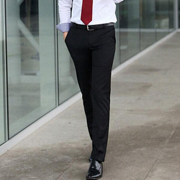 Черные мужские классические брюки со стрелкой