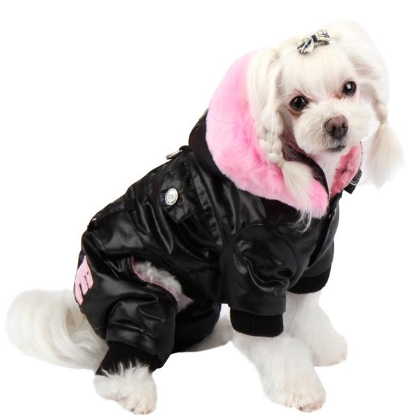 Черный комбинезон для выставки собак