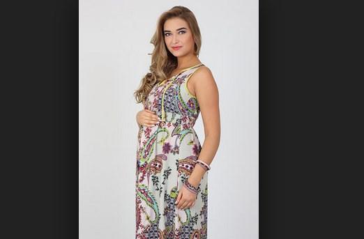 Длинный сарафан для беременных и кормящих мам