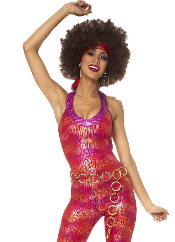 Элементы одежды диско блестят