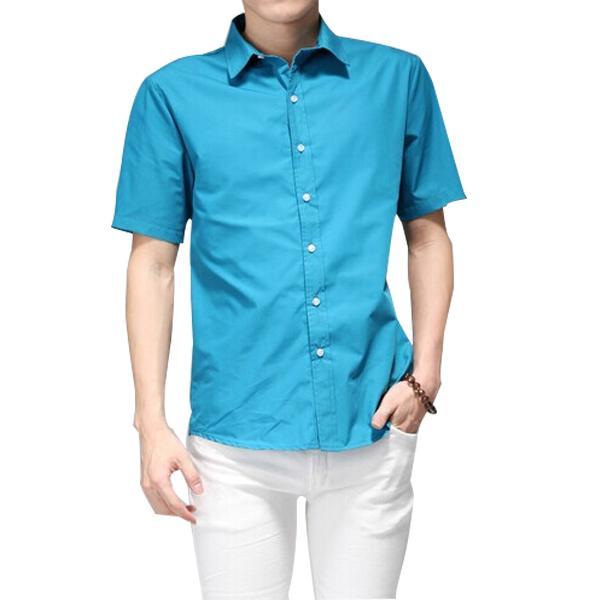 Голубой цвет летней мужской одежды