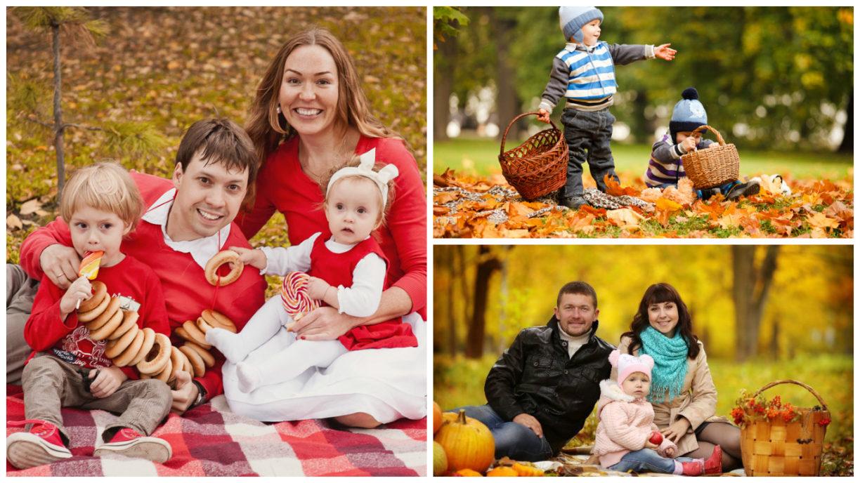 Идеи семейных фотосессий