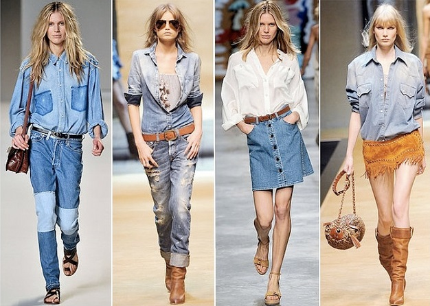 Использование джинса в одежде