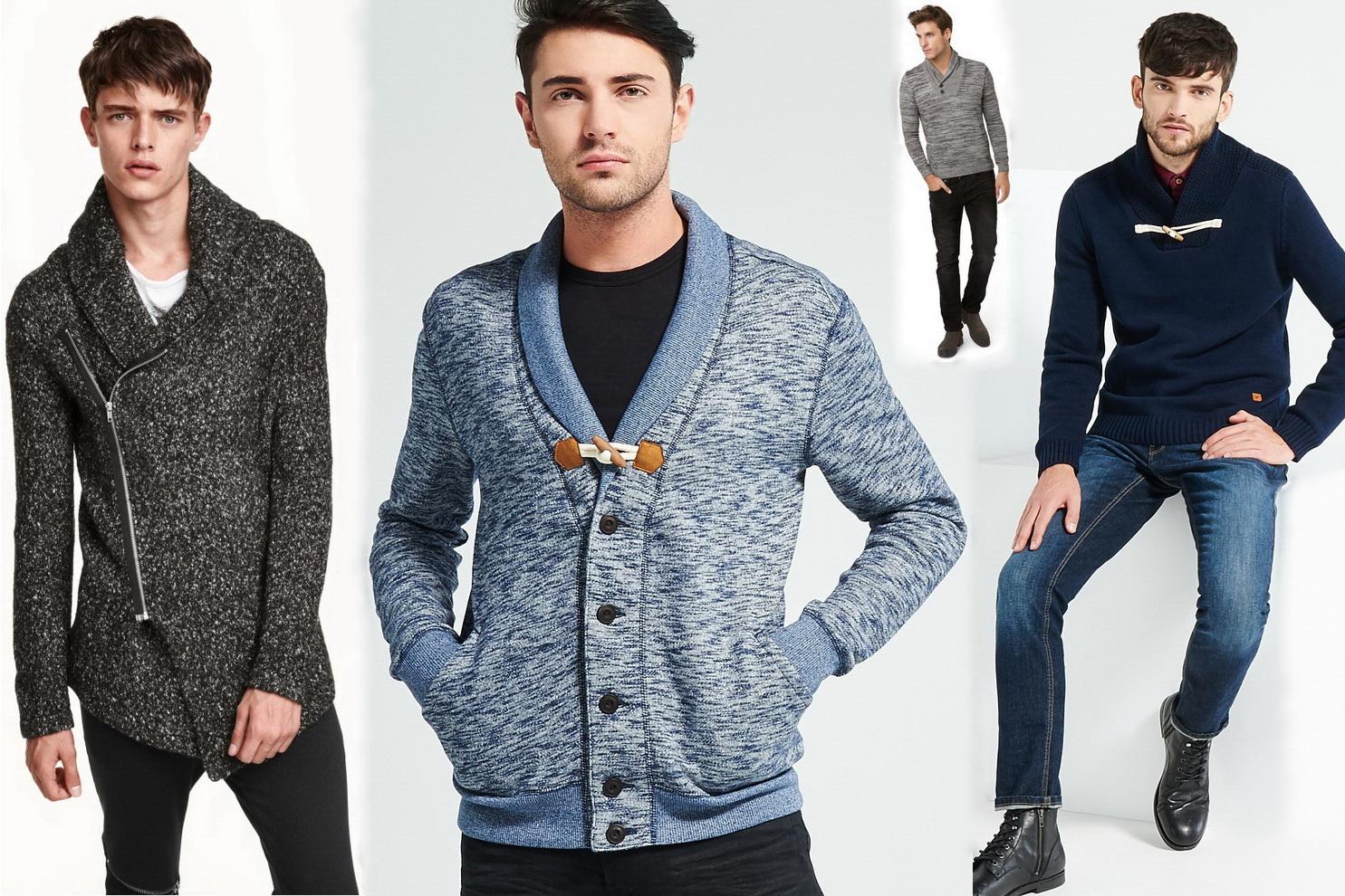Кардиган и пуловер