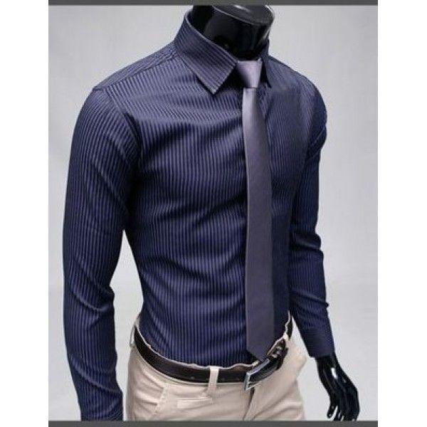 Классическая рубашка в полоску