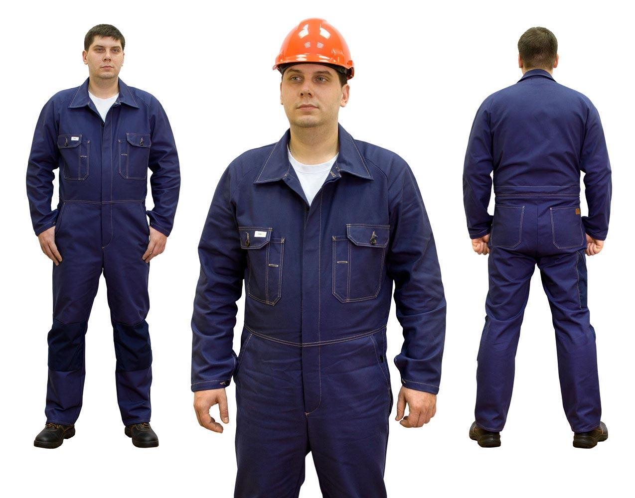 Комбинезон рабочий синего цвета