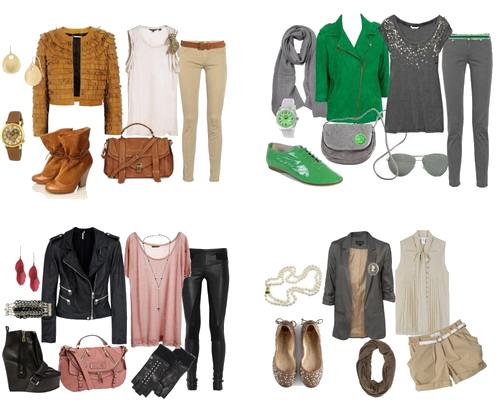 Комплекты одежды по тону