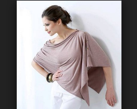 Короткая туника для кормления грудью