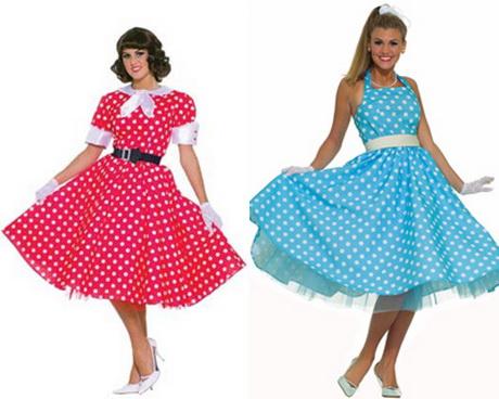 Красное и голубое платье