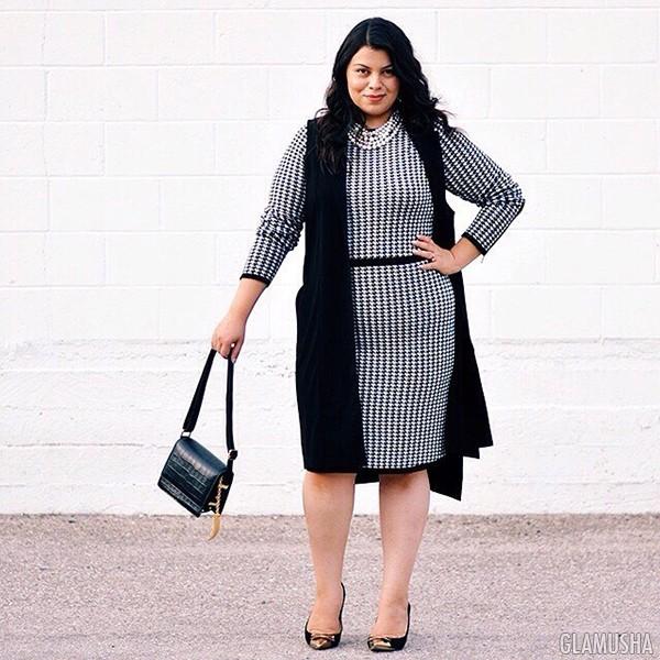 Маленькое чёрное платье для полных девушек