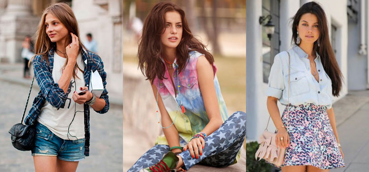 Модная одежда для подростков рубашки