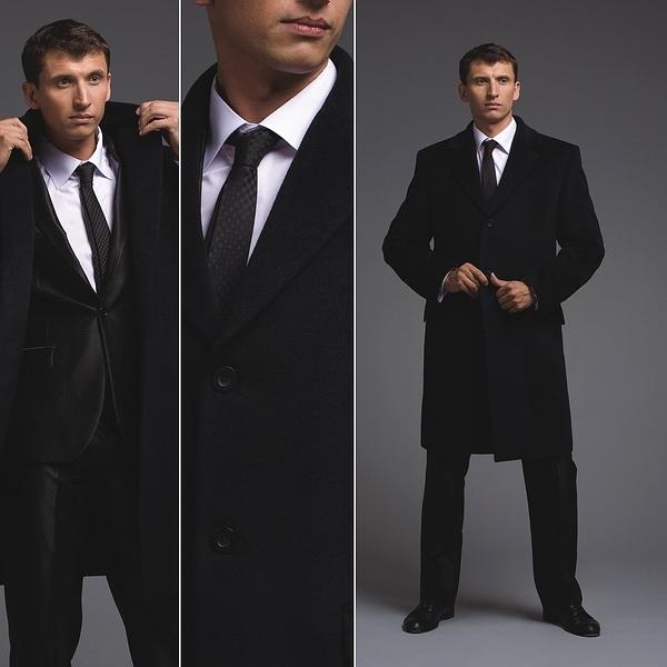 Мужское пальто под деловой костюм