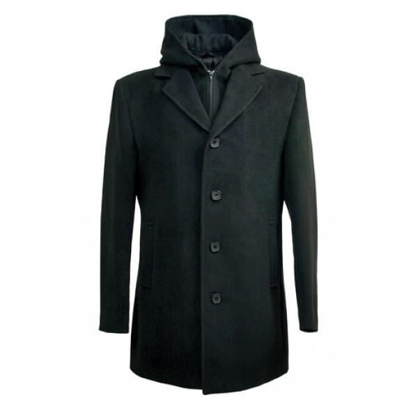 Мужское пальто с капюшоном