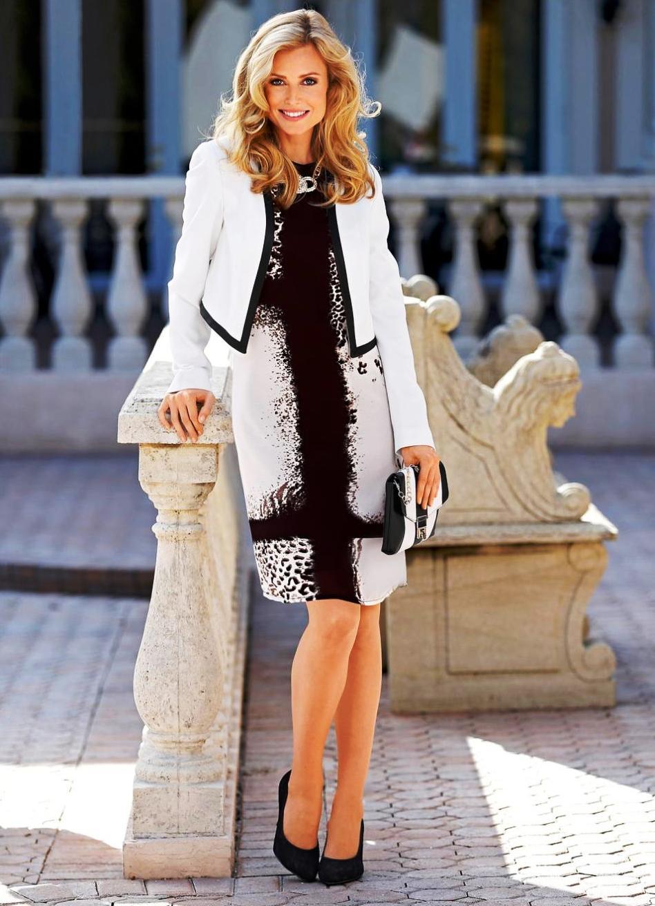 Нарядное платье с пиджаком