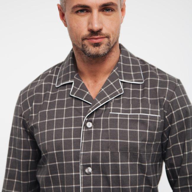 Ночная рубашка для парня в клетку