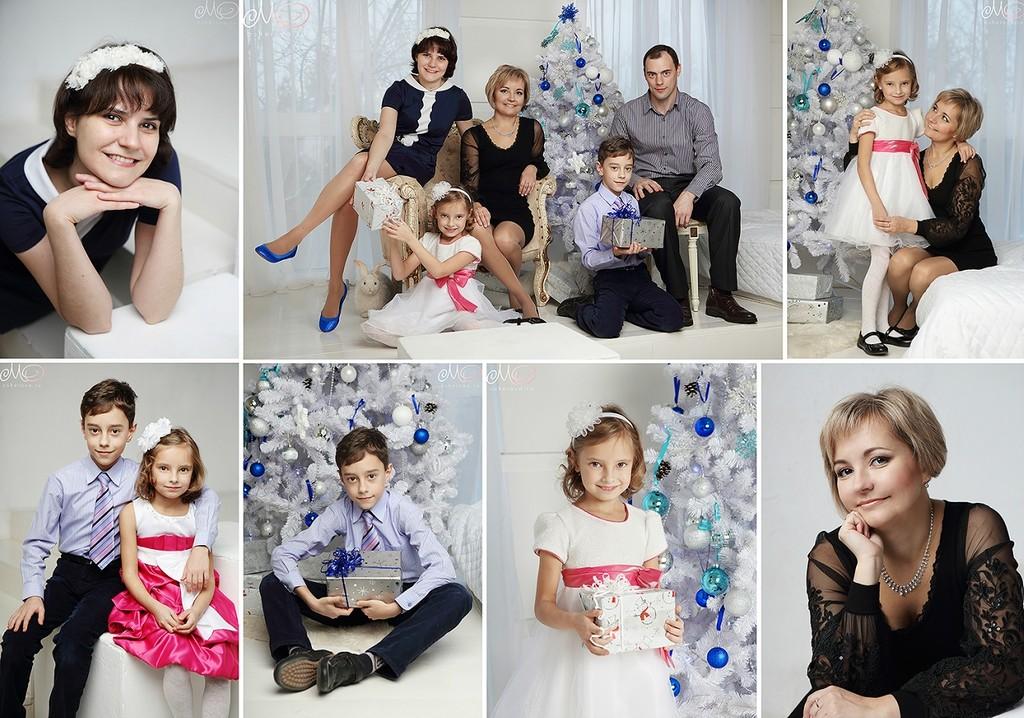 Новогодняя фотосессия для большой семьи