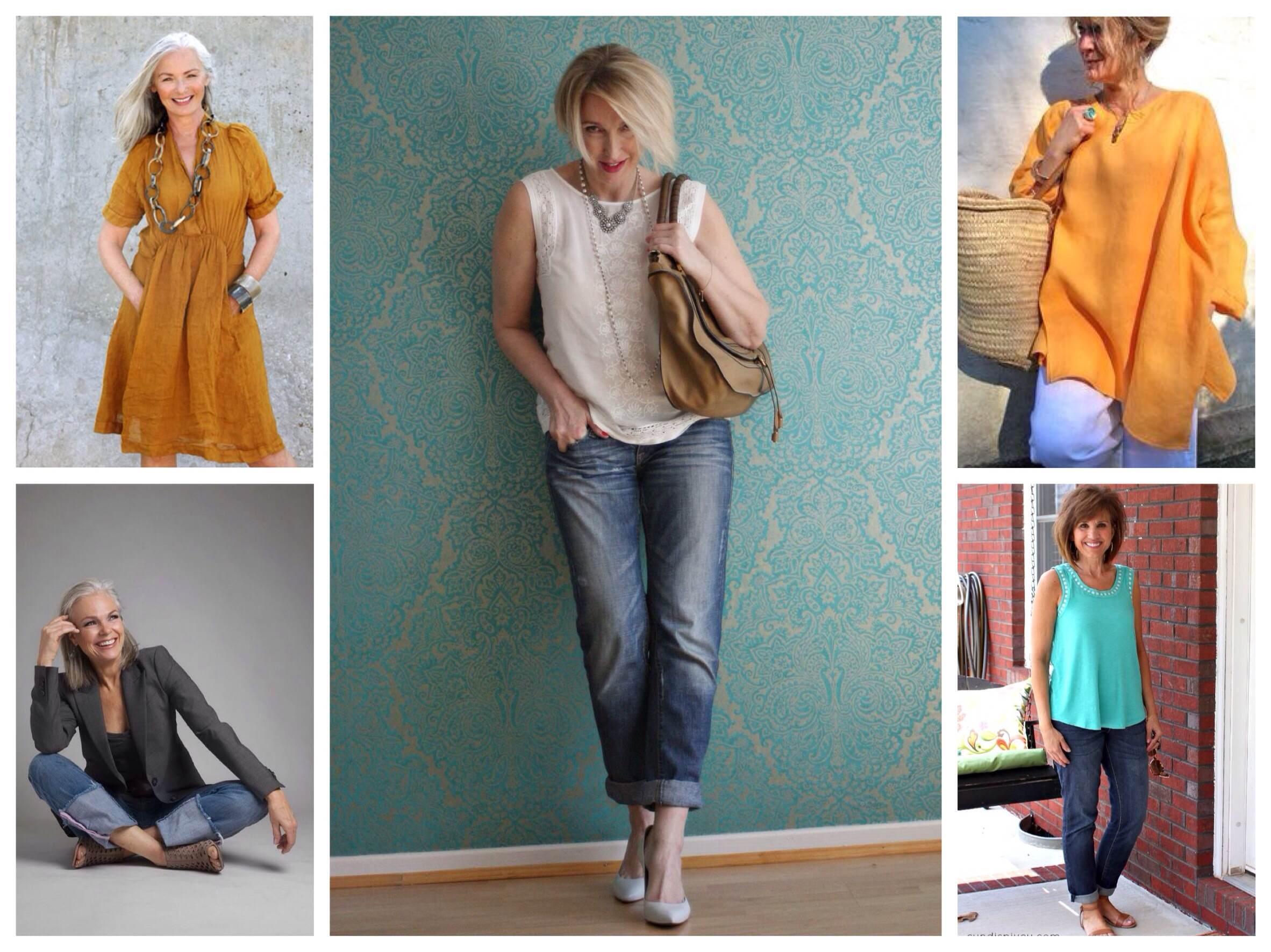 Образы летнего гардероба после 50 лет