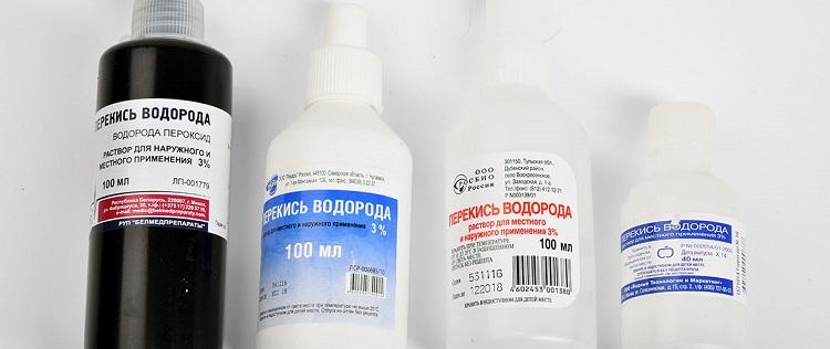 Перекись водорода для удаления крови