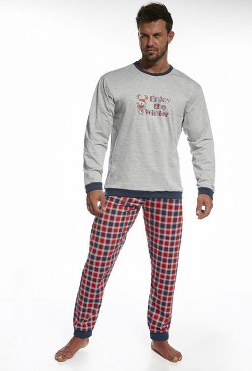 Пижама с клетчатыми штанами