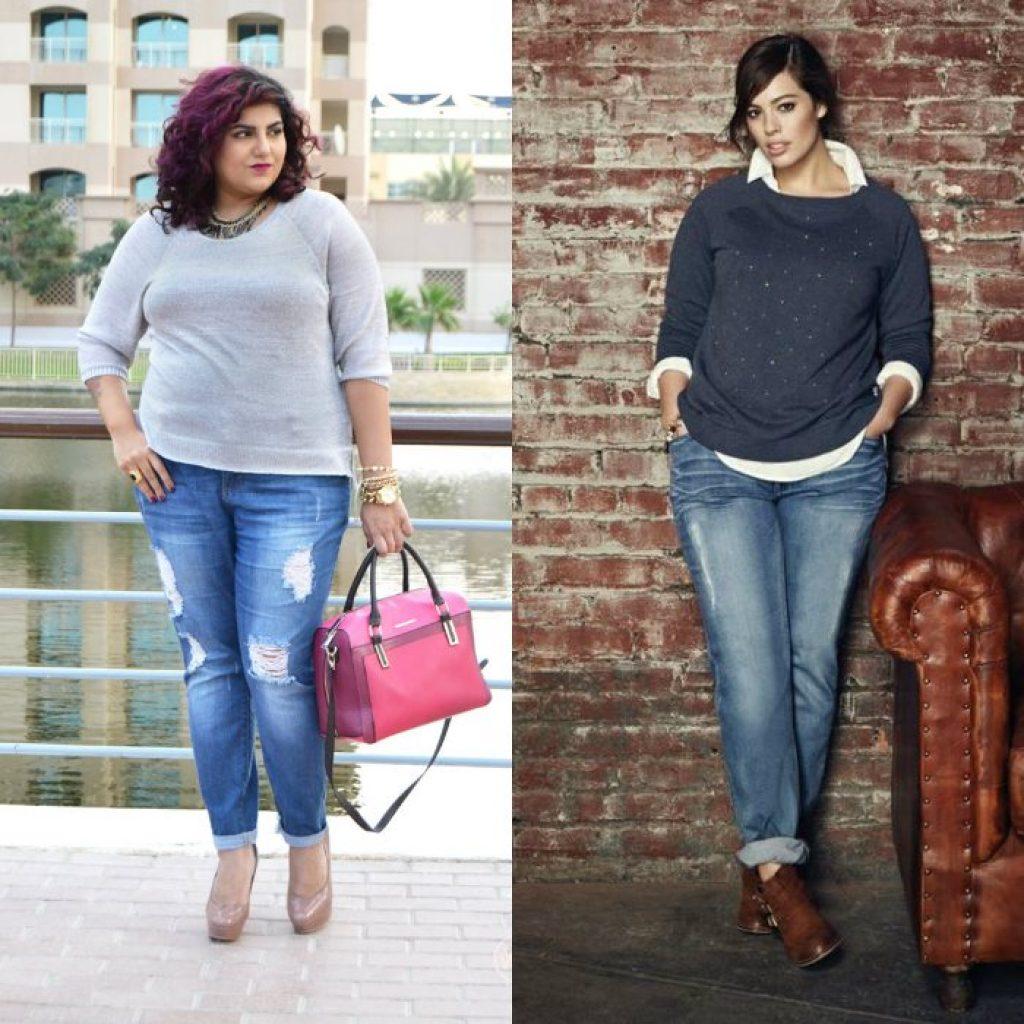 Полные женщины в джинс