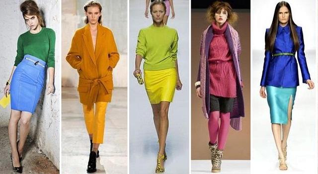 Правильное сочетание колеров одежды