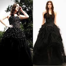 Пышное черное платье