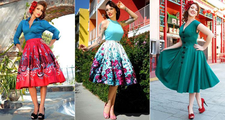 Пышные яркие юбки