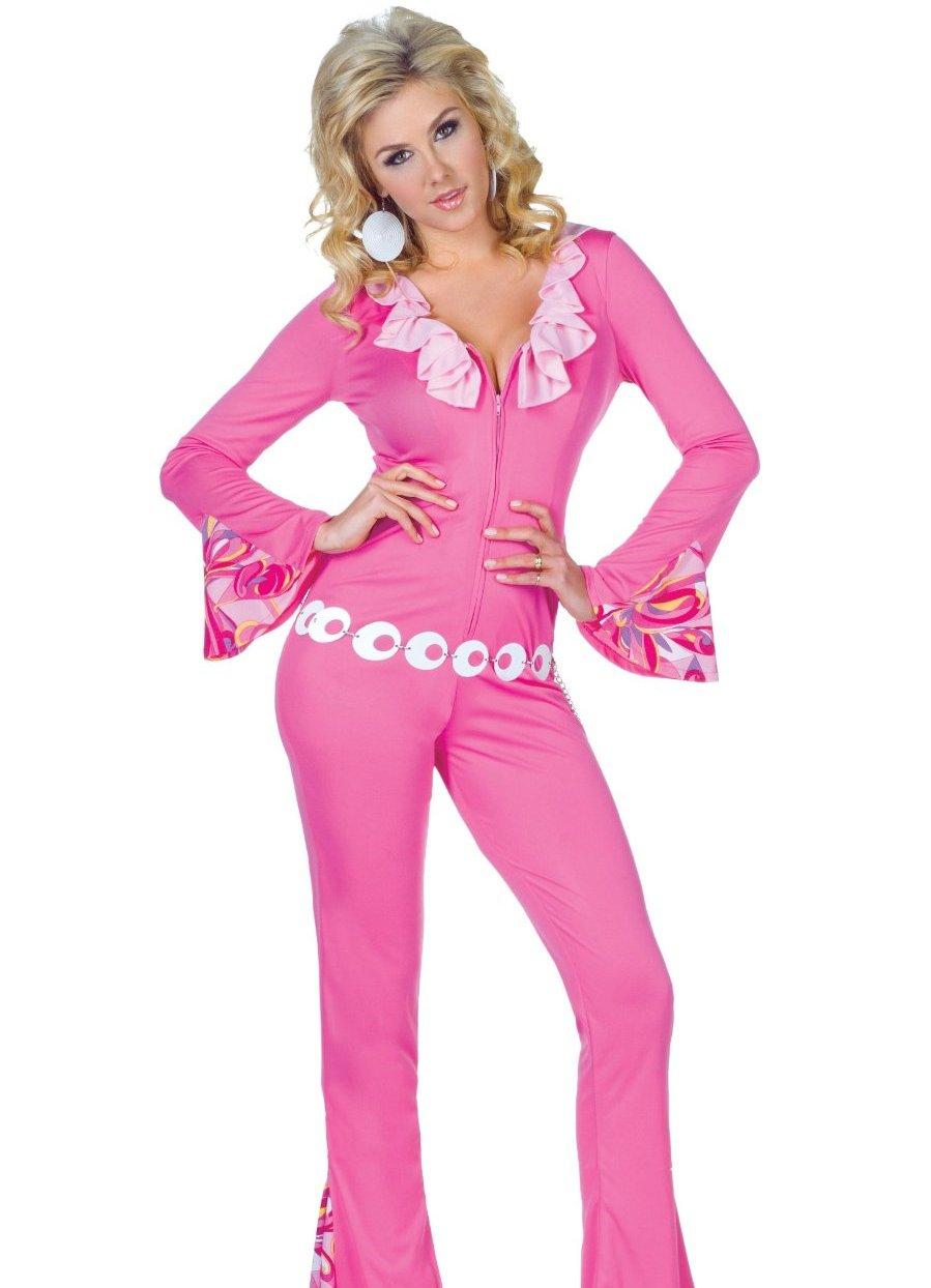 Розовый костюм стиля диско