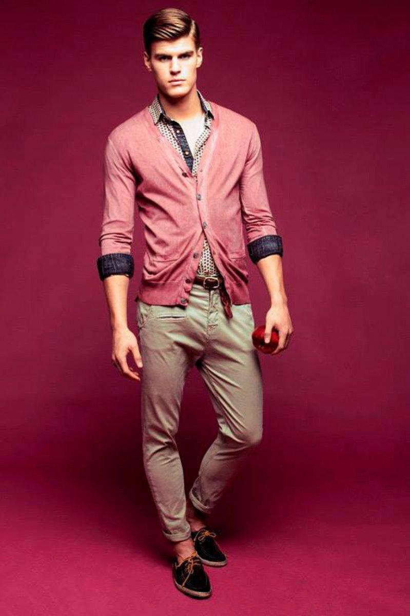 Розовый цвет для мужчины