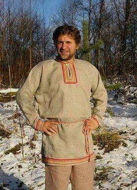 Русский костюм из льна