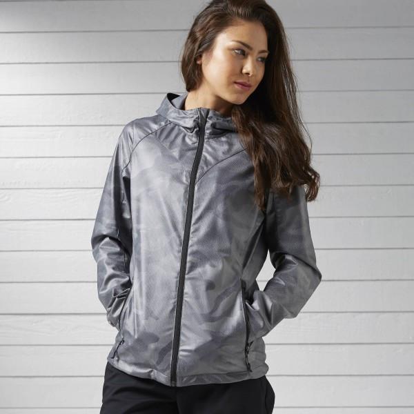 Серая куртка Reebok