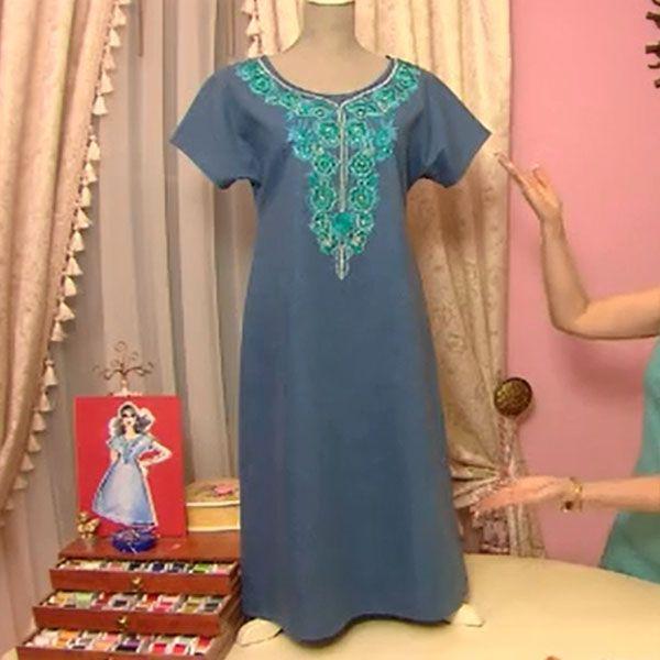 Стильное домашнее платье для модной девушки