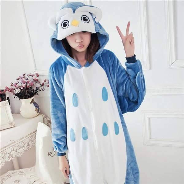 Теплая пижама для девушки с капюшоном