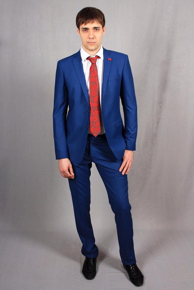 Утепеленный синий костюм