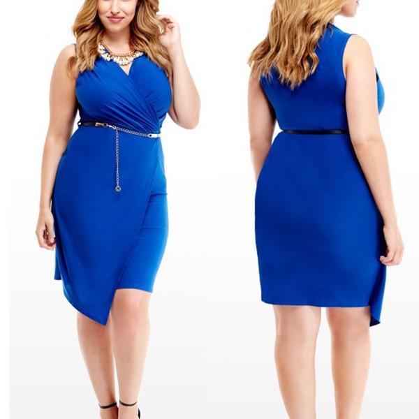 Вечернее платье миди синего цвета